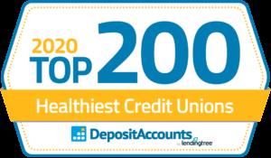 2020 Top 200 Healthiest Credit Unions badge